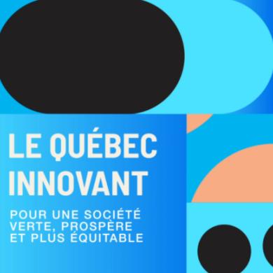 Le Conseil de l'innovation et l'Innovateur en chef du Québec